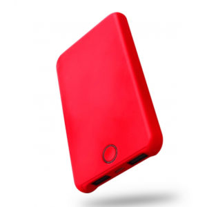 BATTERIE DE SECOURS 7000 mAh POWER BANK FLASH COLOR WAVE CONCEPT ROUGE