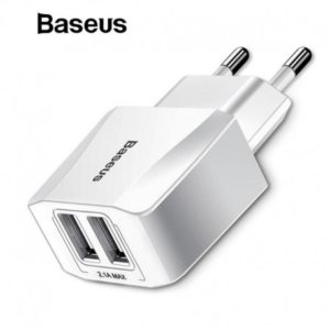 Baseus Chargeur mini Dual 2.1A - Blanc