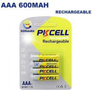 PKCELL Piles Rechargeables AAA NiMH (x4)